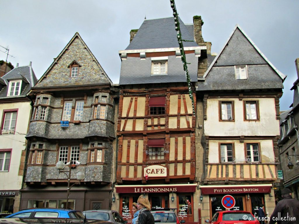 Half timbered houses in Lannion, France