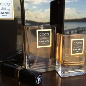 Perfume bottles of Coco by Chanel