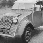 black white 2cv photo