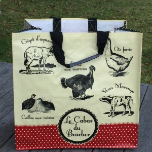 Classic French looking grocery bag with French writing