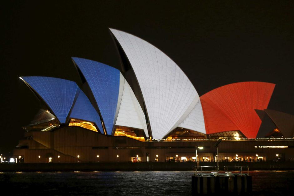 Opera House with french colours