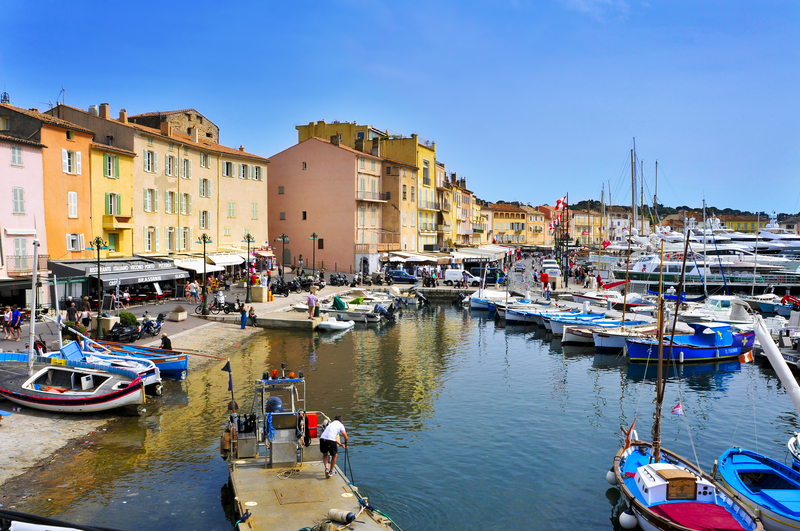 Old port of Saint-Tropez, France