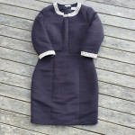 QueensPark shift dress with pearl trim and bolero jacket with pearl trim
