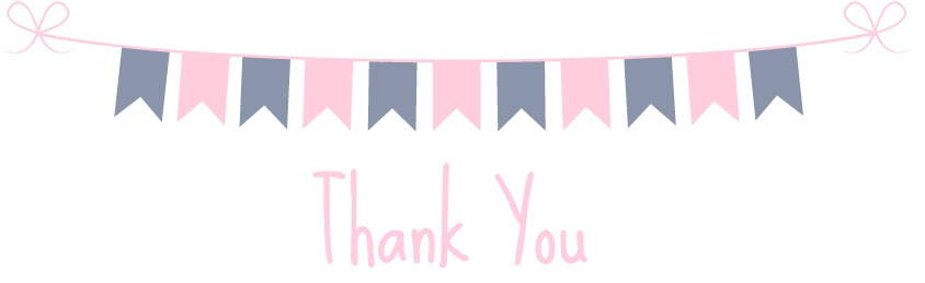 Thank you banner for purchases