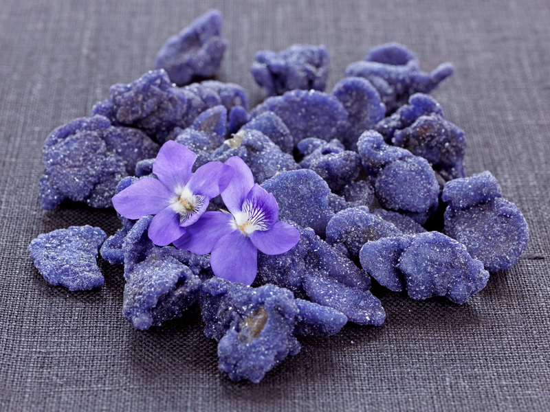 Violets crystallised   a french collection