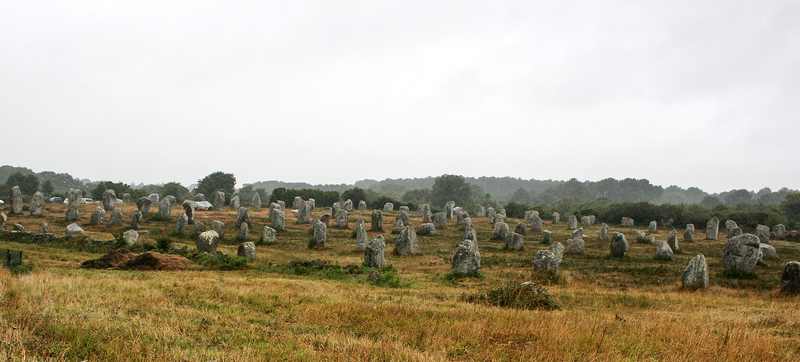 Stone alignment at Carnac, France