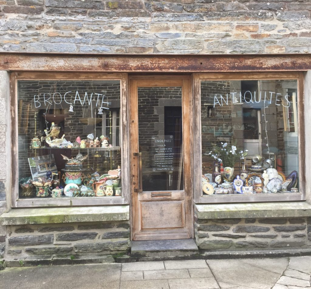 French Brocante and Antique Shop Front