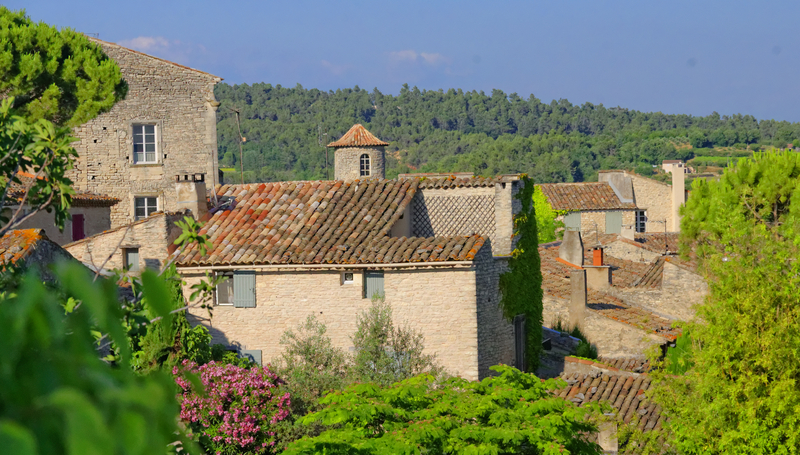 Houses in hilly village in Provence