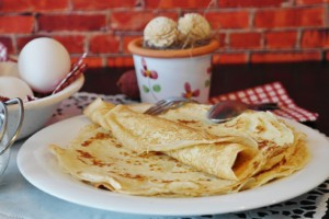 French crepes for Candlemas tradition in France